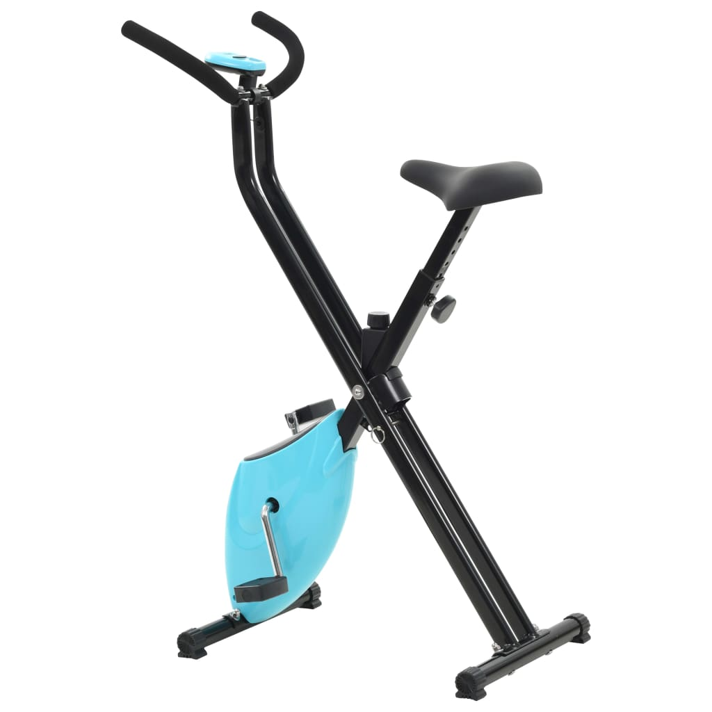 udaljenosti i potrošenim kalorijama. Bicikl za vježbanje ergonomski je dizajniran. Sjedalo se može okomito podešavati. Neklizeće pedale omogućuju optimalan prijenos snage s vaših nogu na pedale. Zahvaljujući sklopivom dizajnu