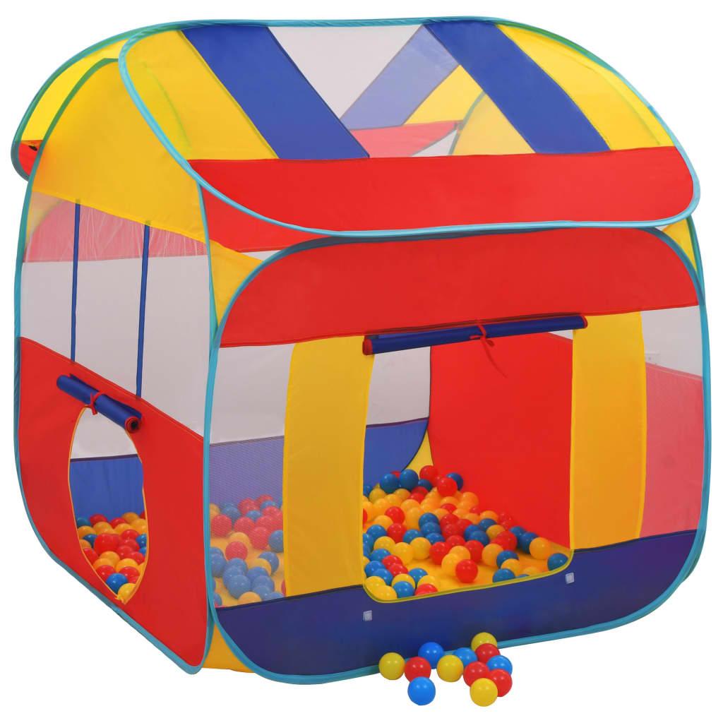 Naš šator za igru s 300 loptica pružit će veliki užitak vašim voljenim mališanima. Vaša će se djeca sigurno zabavljati uz naš šator za igru! Pogodan je za uporabu na otvorenom i zatvorenom. Napravljen od poliestera