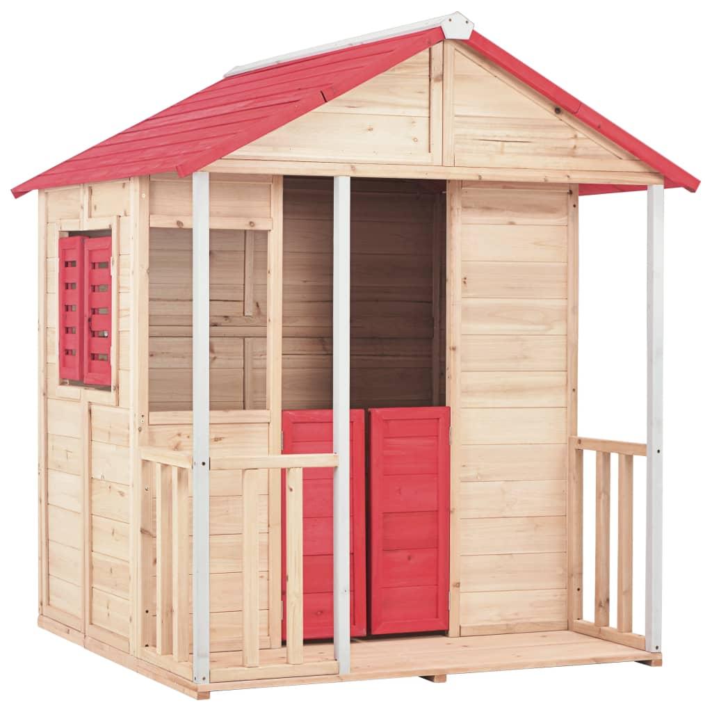 Naša drvena kućica za igru zasigurno će pružiti veliki užitak vašim voljenim mališanima. Vaša će se djeca sigurno zabavljati uz našu kućicu za igru! Naša drvena kućica za igru mjesto je iz snova za vaše mališane