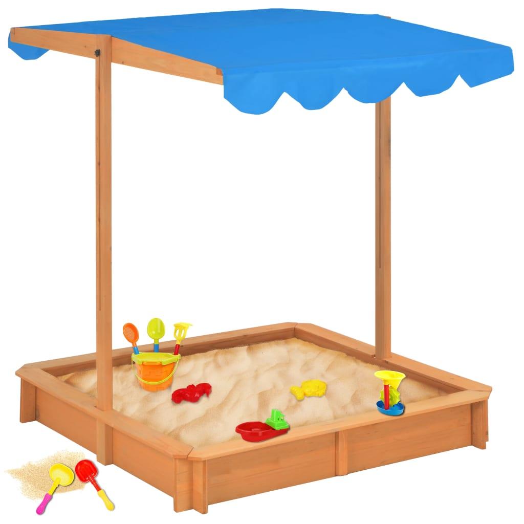 Naš drveni pješčanik s krovom za zaštitu od UV zraka pružit će veliki užitak vašim voljenim mališanima. Vaša će se djeca sigurno zabavljati uz naš pješčanik! Ovaj sjajni pješčanik bit će savršen dodatak vašem vrtu jer će potaknuti vašu djecu da se igraju vani