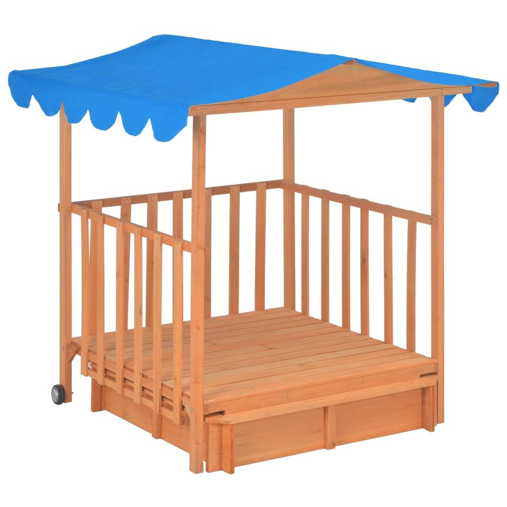 pješčanik ima i natkriveni trijem sa zaštitom UV50 koji štiti djecu od žarkog sunca. Kućica za igranje i pješčanik lako se sastavljaju pomoću uključenih materijala za montažu.