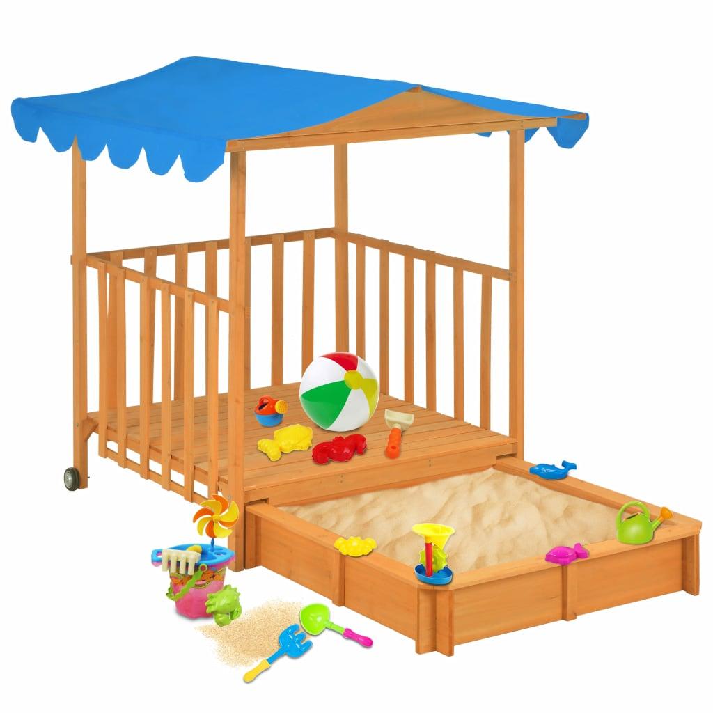 Naša drvena kućica za igru s pješčanikom i krovom sa zaštitom od UV zraka zasigurno će pružiti veliki užitak vašim voljenim mališanima. Vaša će se djeca sigurno zabavljati uz našu savršenu kombinaciju kućice za igru i pješčanika! Ova sjajna kućica za igru bit će savršen dodatak vašem vrtu jer će potaknuti vašu djecu da se igraju vani
