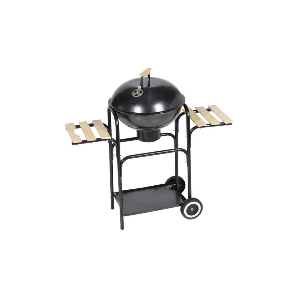 S ovim praktičnim roštiljem na drveni ugljen jednostavno ćete i brzo pripremiti ukusna jela.Ručka na poklopcu omogućava jednostavnu ventilaciju