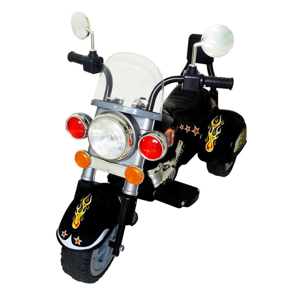 Dječji motocikl ima dizajn čoperog motora. Vaši mališani mogu se osjećati kao odrasla osoba s ovom motociklom. Dječji motor dostiže maksimalnu brzinu od 2