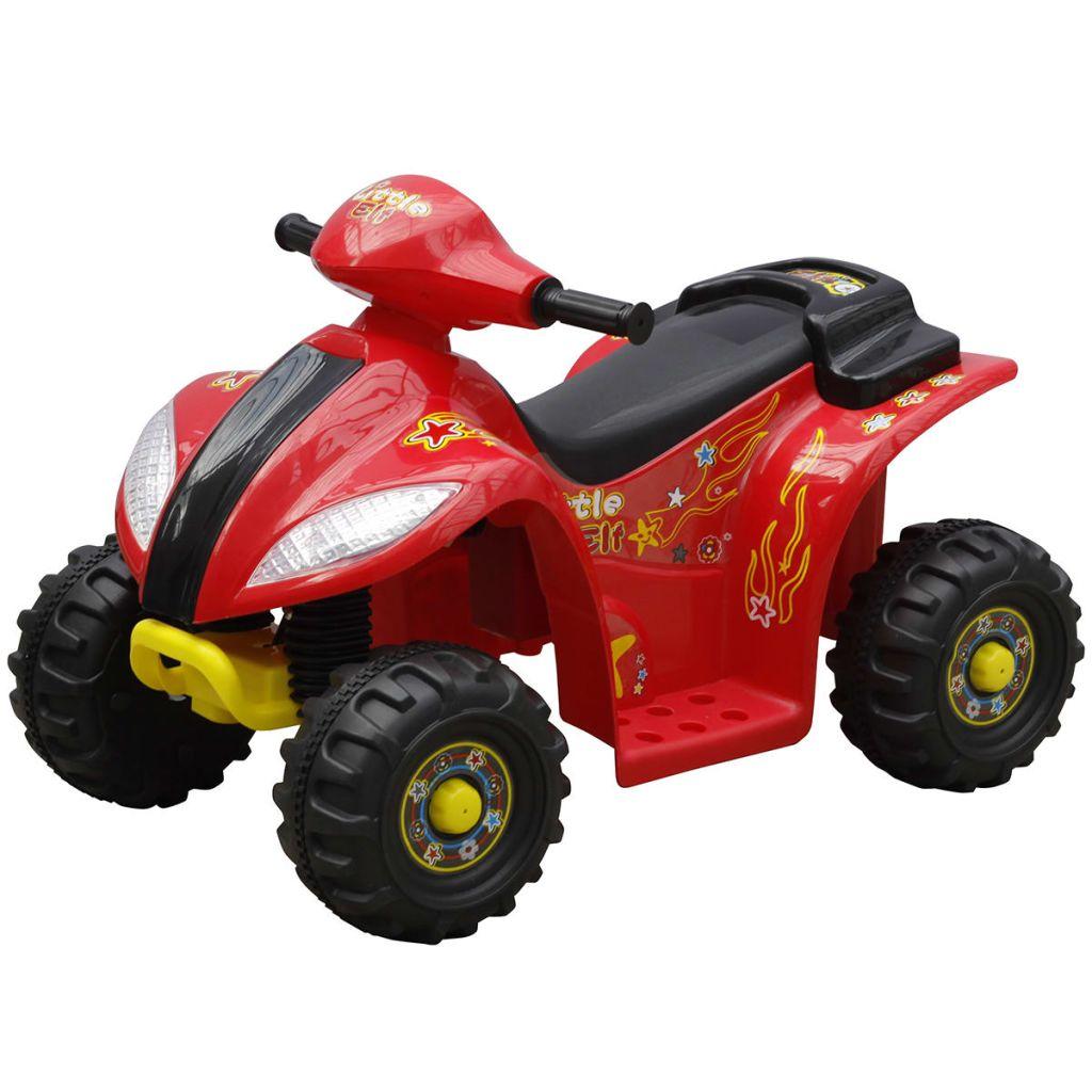 Vozilo za djecu s 4 kotače. Vaši mališani mogu se osjećati kao odrasla osoba s ovom vozilom. Dječji motor dostiže maksimalnu brzinu od 3 km / h. a automatski koči kad dijete oslobađa prekidač na rukohvatu. Tako da ne morate se brinuti da će svoje dijete voziti prebrzo ili nekontrolirano. Dječji motor radi baterijom 6 volt i ima vremena rada cca 1sat. Kada je baterija prazna