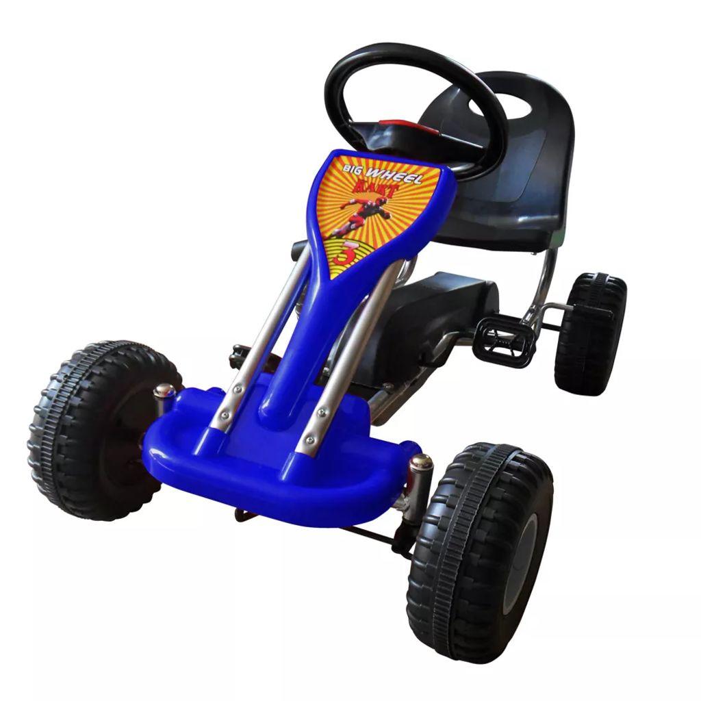 Ovaj go kart autić ima zaštićeni lanac za veću sigurnost djece. Pogodan je za djecu dobi 3-5 godina. Vozilo ima oscilirajuću osovinu za glatko i stabilno kretanje na svim terenima. Zupčanik sa slobodnim hodom omogućuje vožnju unaprijed i natrag.