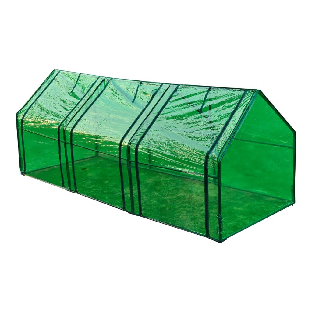 a pogodan je za sijanje ili za zaštitu vaših biljaka protiv hladnog vremena. Staklenik ima prozirni zeleni pokrivač koji omogućuje da sunčeva svjetlost prođe kroz njega i da postigne vaše biljke i cvijeće. Također
