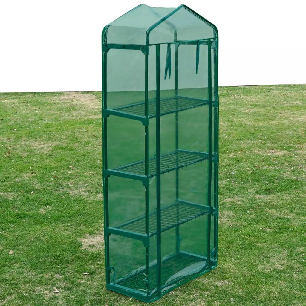 Ovaj staklenik veličine 69 x 32 x 160 cm (D x Š x V) može primiti znatan broj biljaka. Ima prozirni zeleni pokrov koji dopušta sunčevu svjetlost da dopre do vaših biljaka i cvijeća. Pokrov je otporan na UV zrake i smrzavanje. Film je otporan na kidanje