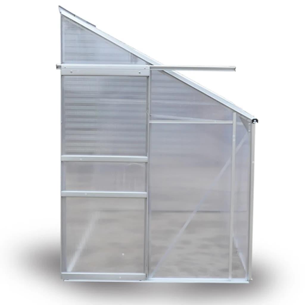 debljine 4 mm. Otporan je na UV zrake a istovremeno omogućuje prijenos svjetlosti. Možete ga ostaviti na otvorenom tijekom cijele godine. Osmišljen je da izdrži na temperaturama od -25 ℃ do 60 ℃. Staklenik ima velika klizna vrata za jednostavan pristup. Na krovu je prozor koji pruža bolju ventilaciju. Ova stavka zahtijeva montažu. Imajte na umu da krov našeg staklenika ne podnosi teški snijeg. Naši staklenici se isporučuju bez temelja. Pri montiranju staklenika