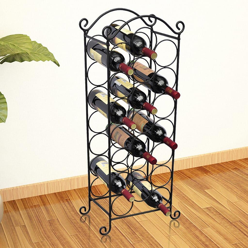 Ovaj je stalak savršen izbor za ljubitelje vina. Ima klasični i bezvremenski dizajn s lijepim ukrasima. Odlična je ideja za poklon za prijatelje i poznanike. Ovaj stalak je izrađen od metala i može smjesti do 21 bocu vina.