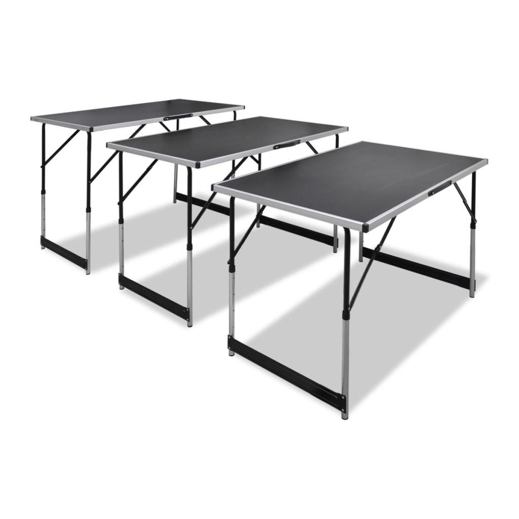 Ovaj set se sastoji od 3 višenamjenska stola s podesivom visinom. Idealni su za širok raspon upotrebe poput lijepljenja tapeta