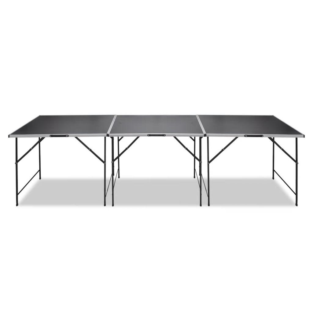mjerenje materijala i još puno toga! Svaki od ova 3 stola ima okvir od jakog aluminija i stolnu ploču od MDF-a koja se lako čisti. Podržan čvrstim željeznim nogama