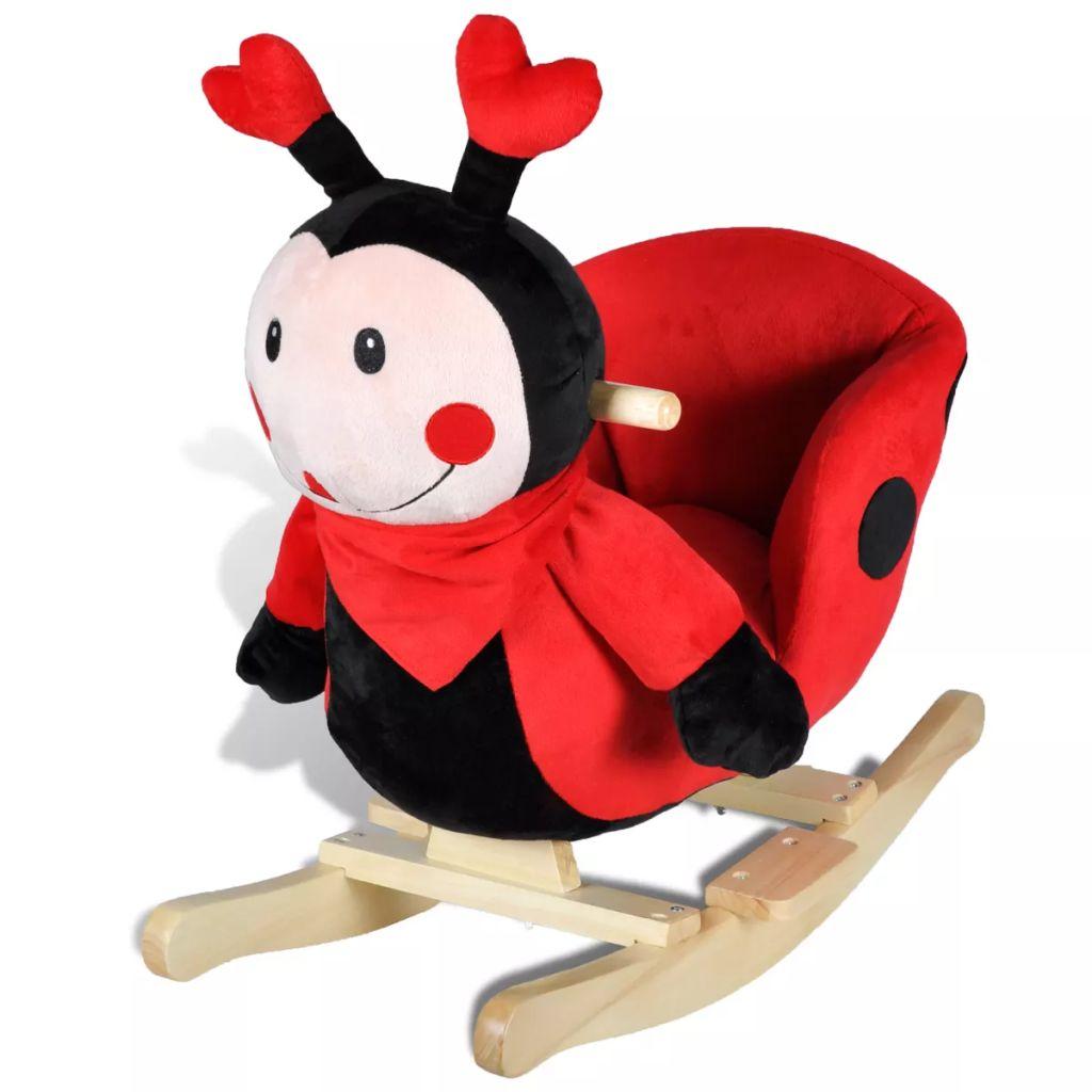 Ova visoko kvalitetna ljuljajuća igračka s prelijepim izgledom bubamare donijet će bebama utjehu i radost. Ova mekana