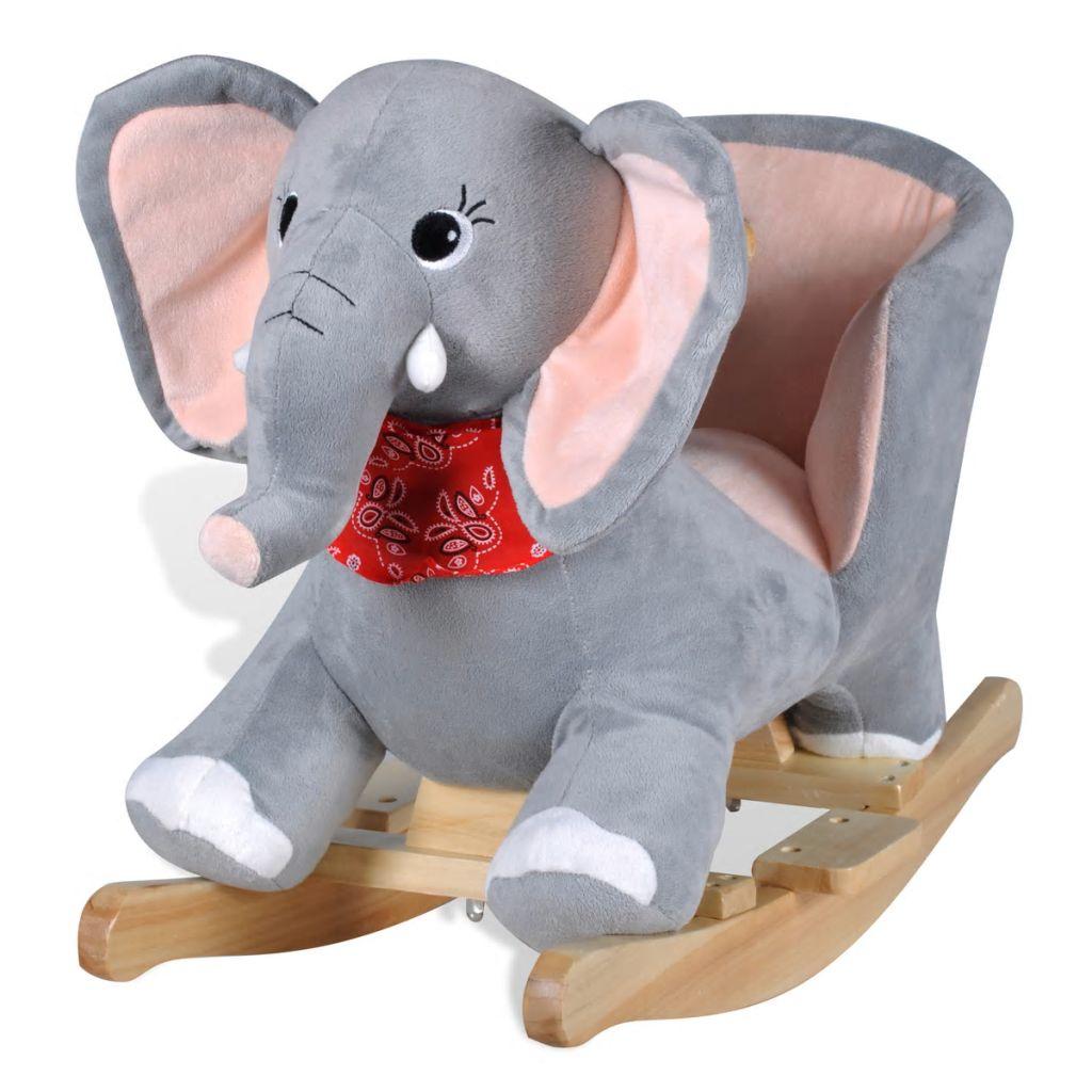 Ova visoko kvalitetna ljuljajuća igračka s prelijepim slonićem donijet će bebama utjehu i radost. Ova mekana