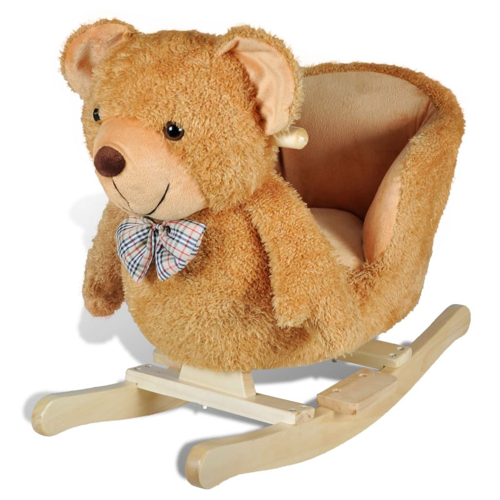 Ova visoko kvalitetna ljuljajuća igračka s prelijepim medvjedićem donijet će bebama utjehu i radost. Ova mekana