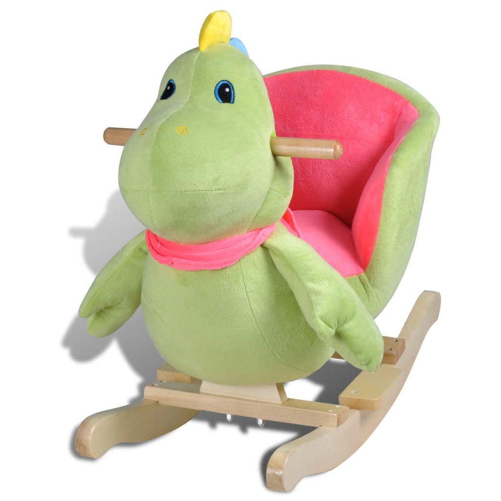 Ova visokokvalitetna ljuljajuća igračka s prelijepim dinosaurusom donijet će bebama utjehu i radost. Ova mekana