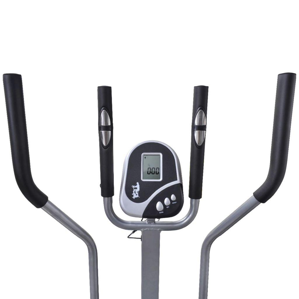 tako da omogućuje optimalni položaj hodanja i optimalni prijenos snage od noge na pedale. Ručice pružaju dodatno vježbanje za gornji dio tijela. Glatki i tihi prijenosni pojas sobnog bicikla