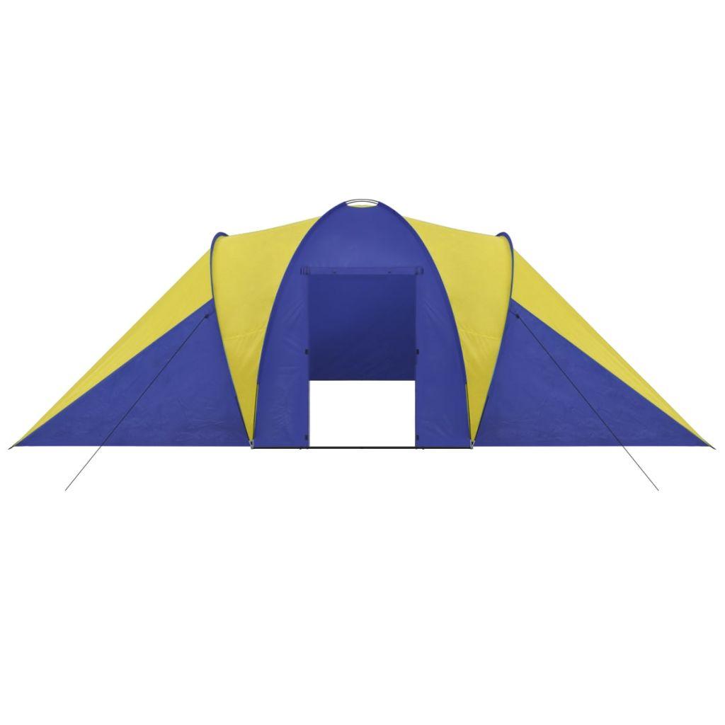 šator ima mrežu protiv komaraca za mjesto za spavanje. Isporuka uključuje torbu za nošenje.