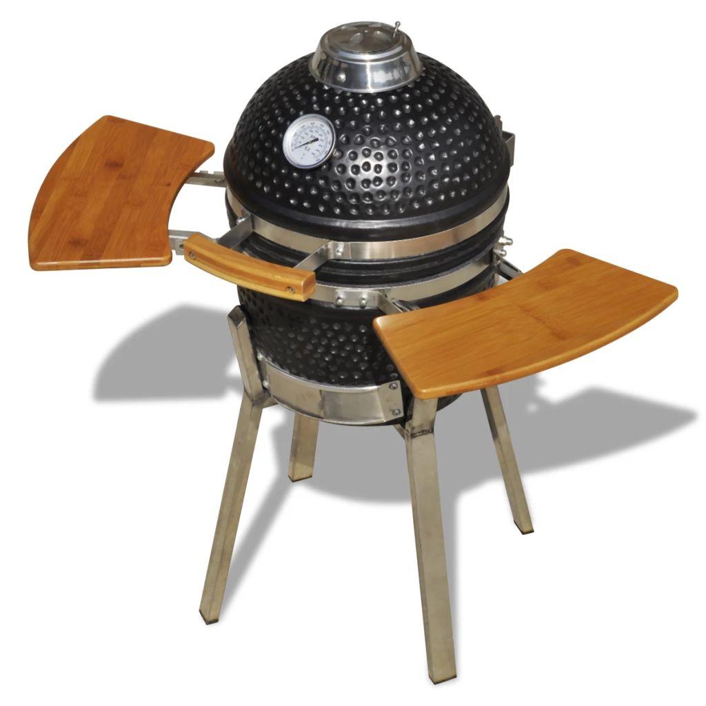Kamado keramički grill promjera 33 cm izvrstan je odabir za pripremu hrane. Pogodan je za potpalu na drva ili ugljen