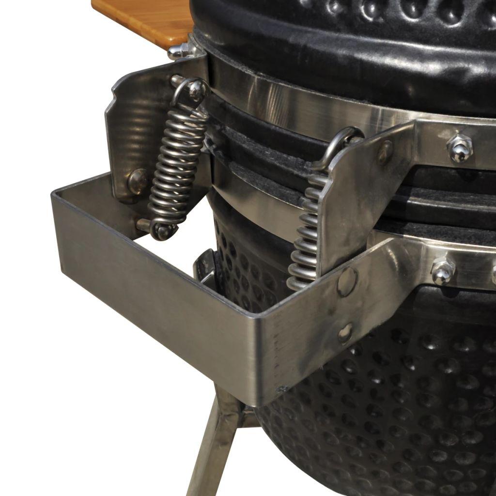 kuhanja ili podgrijavanja.Roštilj dolazi s iznimno čvrstim poklopce m s kukom i otvorom za ventilaciju. Dva zasebna sloja omogućavaju Vam jednostavnu kontrolu protoka zraka