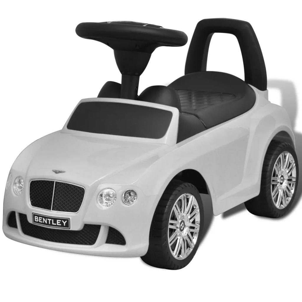 Ovaj autić na guranje u dizajnu Bentley je sigurna igračka za djecu. Autić reproducira 6 pjesma koje su aktivirane tipkama na upravljaču. Također