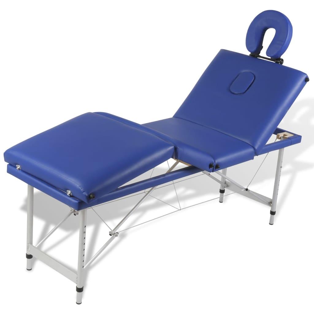 shiatsu i reiki. Jastuk podstavljen gustom pjenom veoma je udoban i otporan na dezinfekcijska sredstva i ulja za masažu . Naslon za glavu i visina stola za masažu su podesivi što omogućuje korisniku da udobno leži a terapeutu da bira željenu visinu rada. Stol za masažu se lako sastavlja. Može se preklopiti u oblik kofera. Torba za prijenos je uključena u isporuku za jednostavan transport i pohranu.