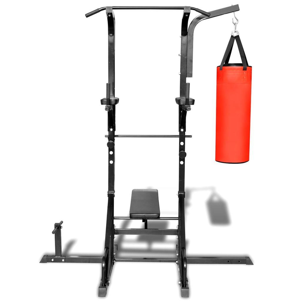 uz klupu za trbušnjake i boksačku vreću moći ćete izvoditi još više vježbi.Sprava je maksimalnog kapaciteta od 100 kg