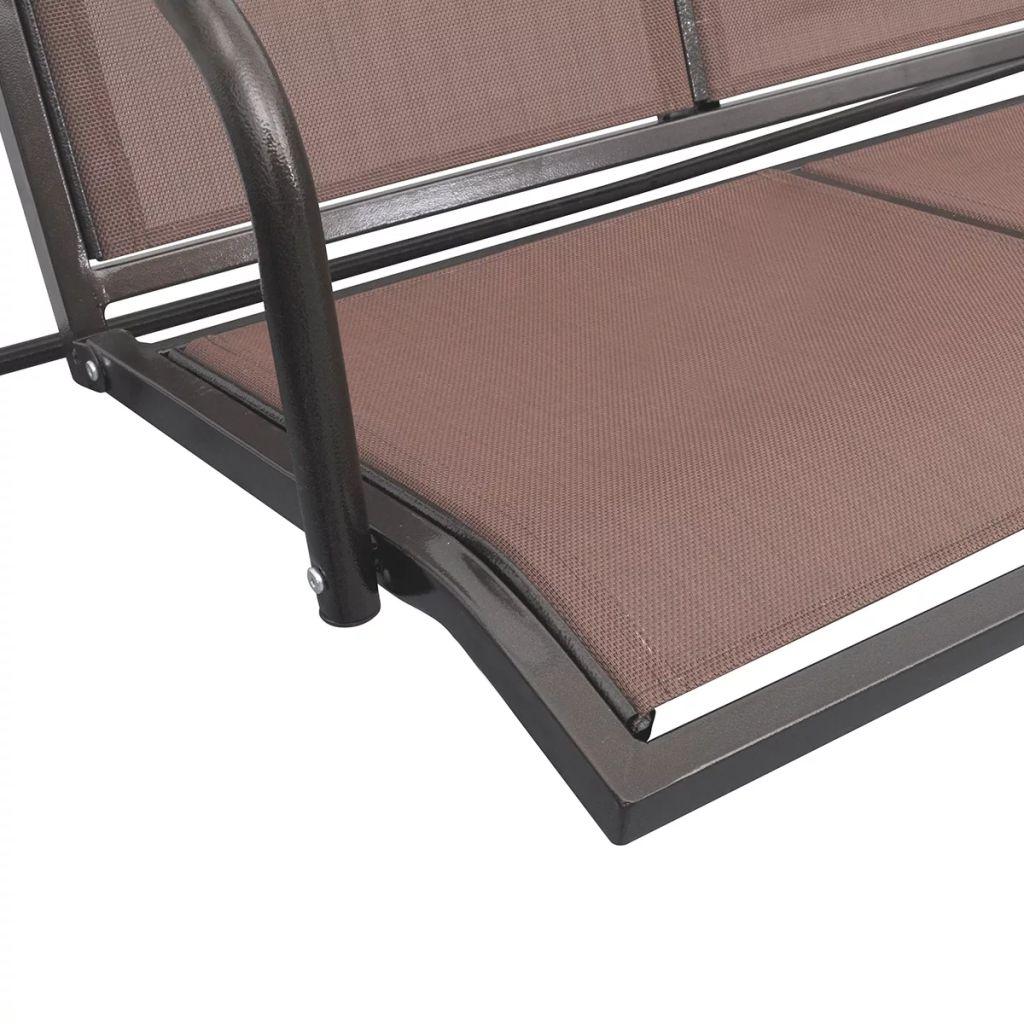 što ljuljačku čini jednostavnom za čišćenje. Ova ljuljačka pogodna je za troje i pruža hlad pomoću velike nadstrešnice. Uživat ćete ljuljajući se na stolici uz ljetni povjetarac. Naša klupa idealan je izbor za vaš vrtni prostor. Sastavljanje je doista jednostavno.
