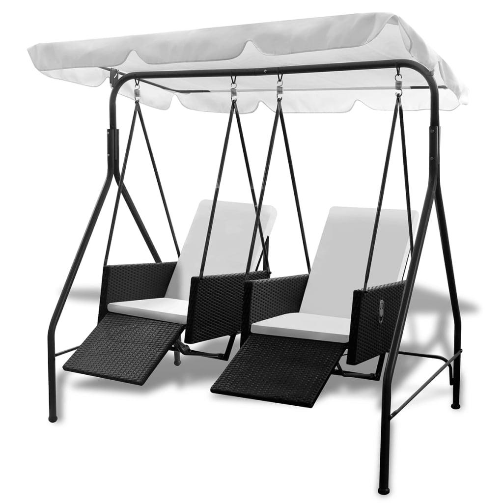 ova stolica za ljuljanje je jednostavna za čišćenje i dovoljno je otporna za svakodnevnu upotrebu. Čelični okviri s prahom obloženi čine komad vrlo stabilnim i izdržljivim. Izmjenjivi jastuci su vrlo udobni. Velika nadstrešnica štitit će vas od sunca