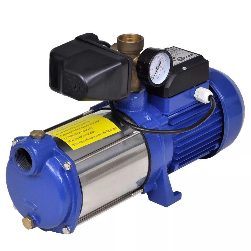 Ova visoko kvalitetna mlazna pumpa izvrstan je odabir za napajanje sustava za irigaciju ili kućnog vodovodnog sustava.Pumpa je opremljena mjeračem i kabelom duljine 0