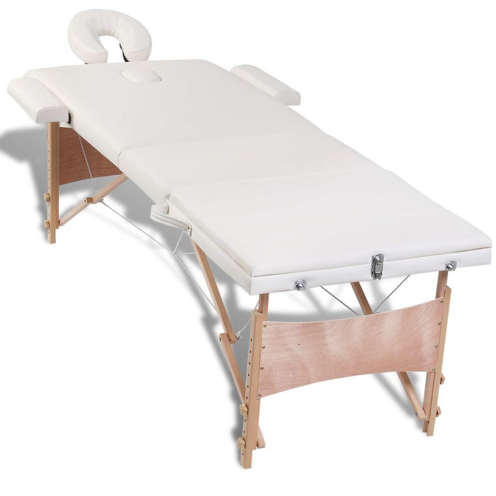 što omogućuje korisniku da udobno leži a terapeutu da bira željenu visinu rada. Stol je lako sastaviti. Može se presaviti u oblik kovčega. Uključena je torba za jednostavan prijenos i skladištenje. Komplet s dodacima također je uključen .