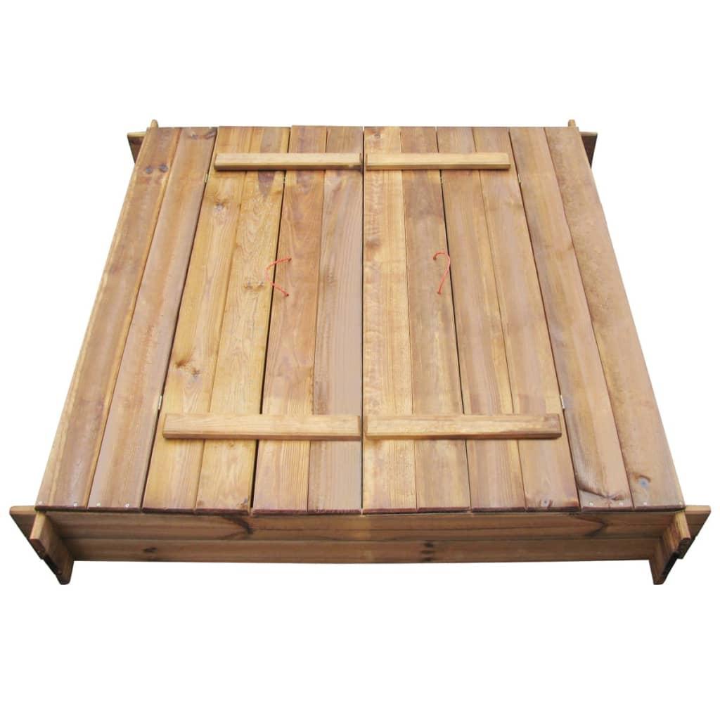 ovaj drveni pješčanik vrlo je izdržljiv i otporan na trulež. Vaša djeca će uživati u satima inventivne igre s ovim kvadratnim drvenim pješčanikom! Pogodan je za djecu u dobi od 3+. Sklapanje je stvarno lako. Imajte na umu da je drvo prirodni proizvod i može sadržavati nesavršenosti.