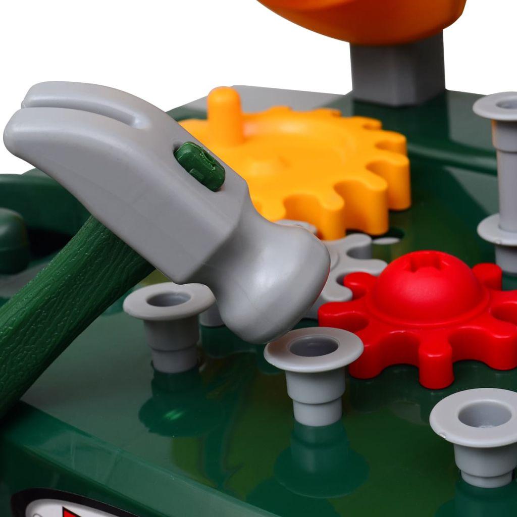 police i prostor za pohranu za držati sve alate i potrošni materijal i za organiziranje alata sve je na dohvat ruke. Neće vaša djeca samo obožavati se igrati sa ovim radioničkim stolom