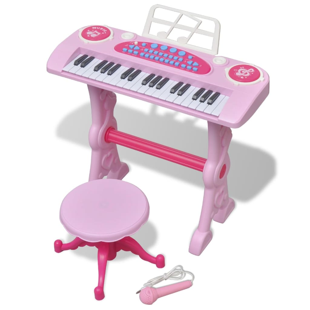 Ova slatka klavijatura izvrstan je način da upoznate svoje mališane sa svijetom glazbe.Raznovrsni zvuci