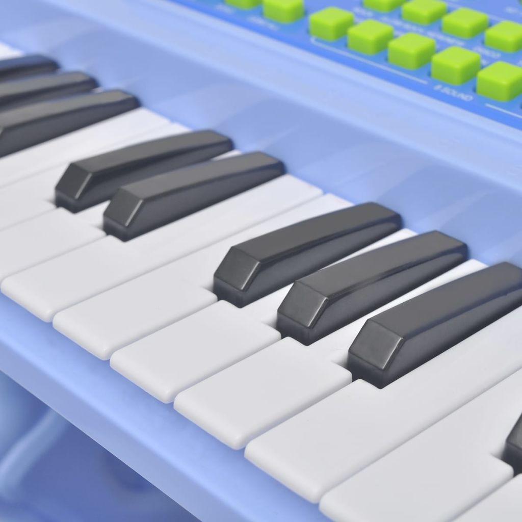 glazbene sposobnosti će i sluh vaše djece će biti intenzivno trenirane. Plava boja i autentične tipke ga čine da izgleda baš kao pravi klavir. Otporni