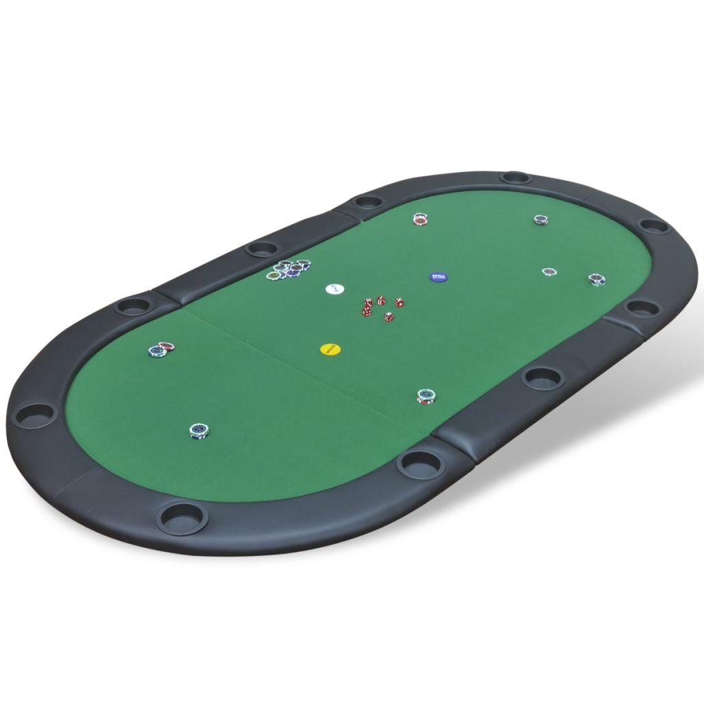 Ova podloga za poker ima obrub s visokokvalitetnim naslonima za ruke od umjetne kože i gusto