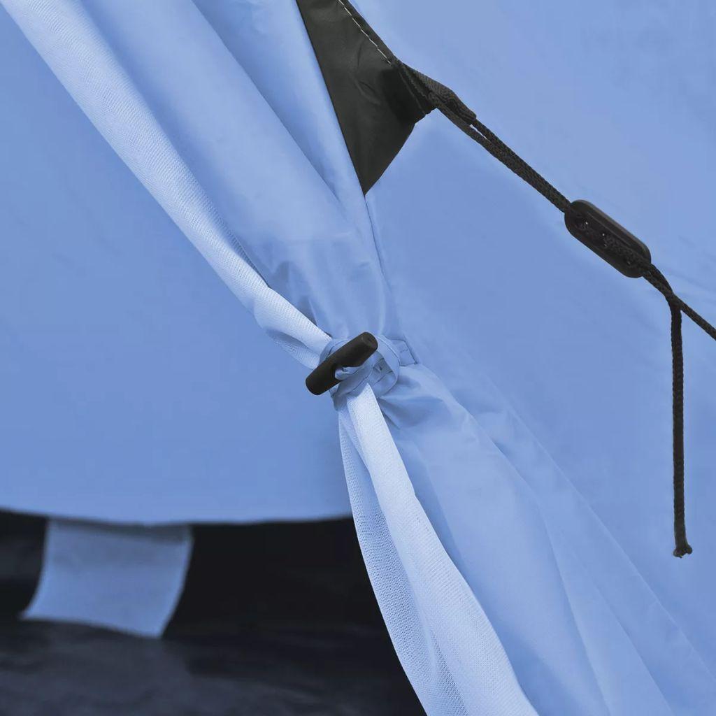 festivale ili odmaranje u kampu. Vodootporna cerada s dodatnim vrhom i pod od PE-a osigurat će da vaš boravak bude suh i čist. Struktura okvira od željeza pridonosi čvrstoći i izdržljivosti. Ovaj šator ima dva prozora s mrežastim zaslonima protiv insekata