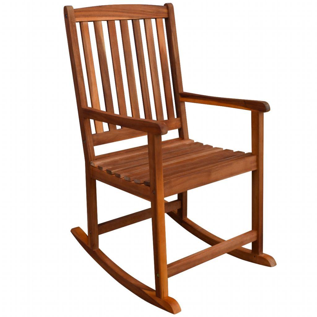 ova stolica za ljuljanje je izrađena od visokokvalitetnog bagremova drveta