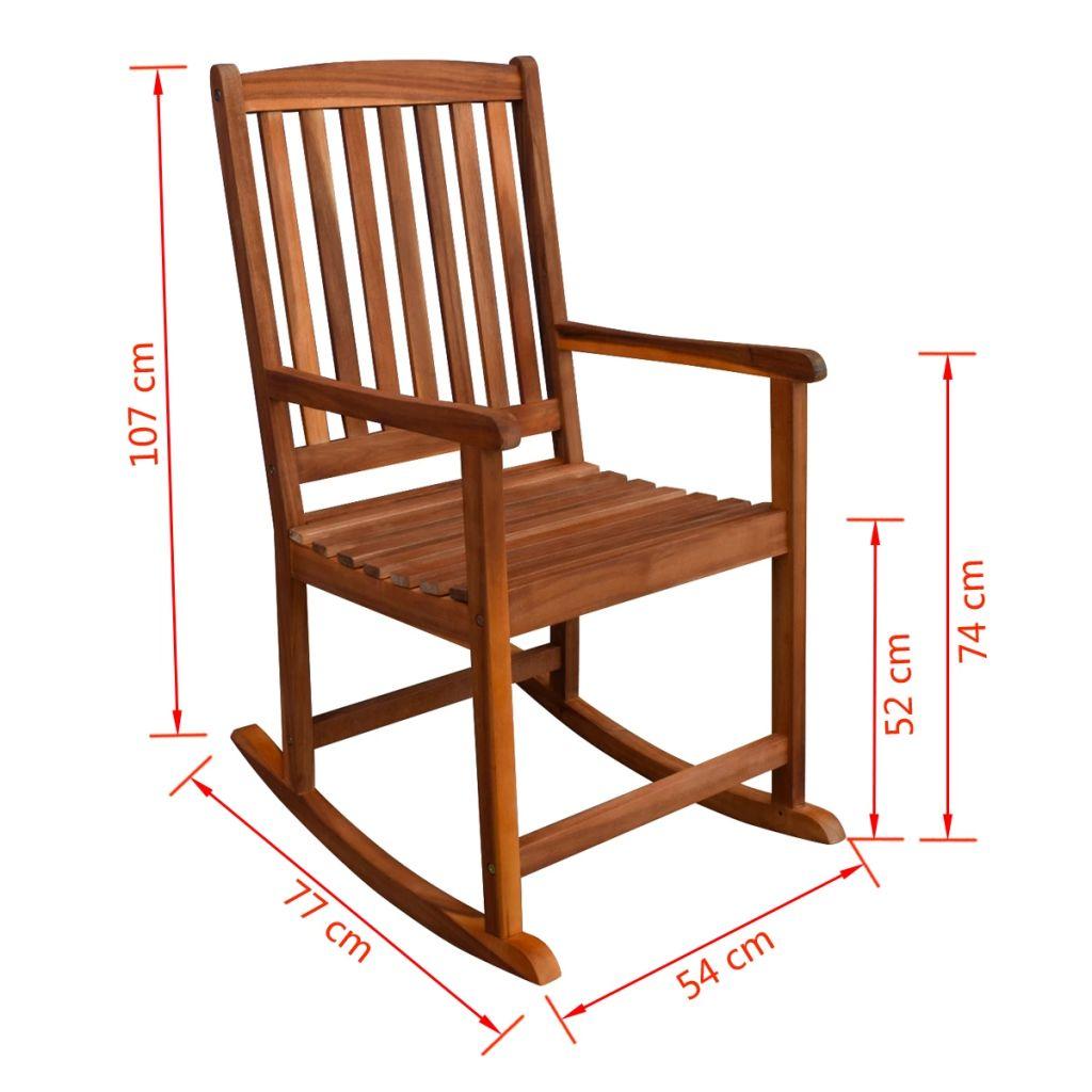 izuzetno je pogodno za uporabu na otvorenom. Ova stolica za ljuljanje ima maksimalnu nosivost od 160 kg. Visoki naslon za leđa od letvica i veliko sjedalo pružaju veliku podršku