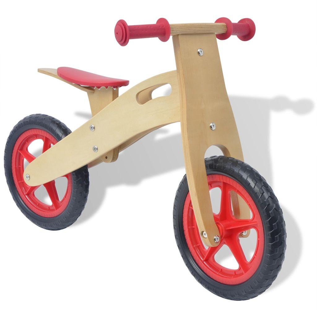 Ovaj drveni bicikl za ravnotežu je odličan način da se osigura nesmetan prijelaz