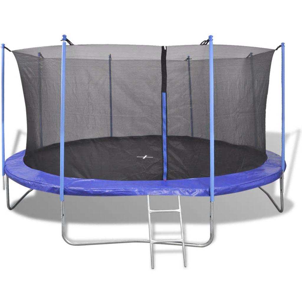 Ovaj trampolin ima izdržljivu sigurnosnu podlogu sa maksimalnim kapacitetom tereta 150 kg. 64 opruga