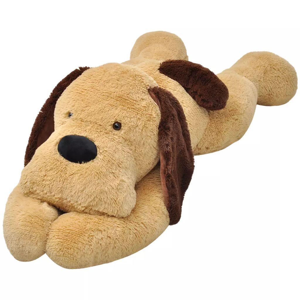 Tko se ne bi želio družiti sa našim super nježnim XXL plišanim psićem? Naš izuzetno veliki plišani pas odmah će postati najbolji prijatelj za djecu svih uzrasta. Mekani pliš čini ga savršenim za maženje i zagrljaj