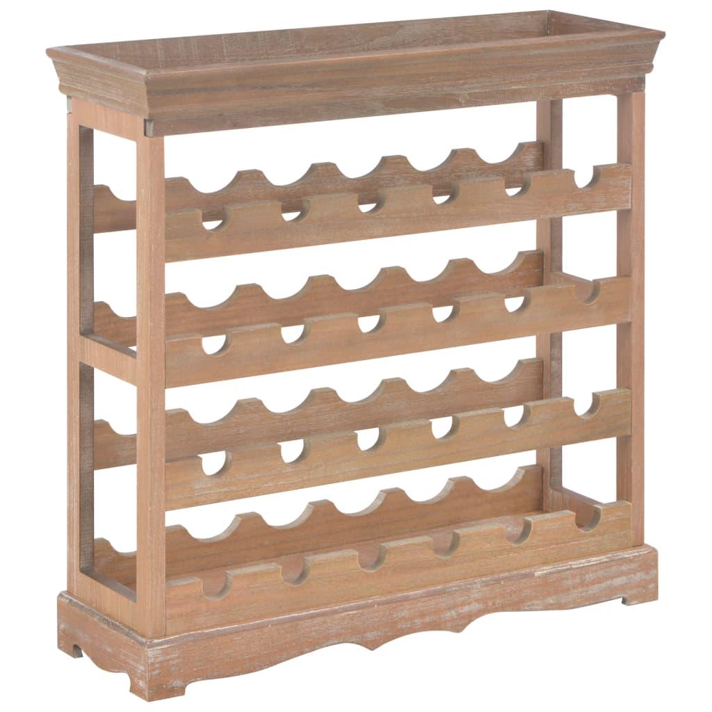 Ovaj visokokvalitetni stalak za vino smeđe boje idealno će se uklopiti u vaše životno okruženje
