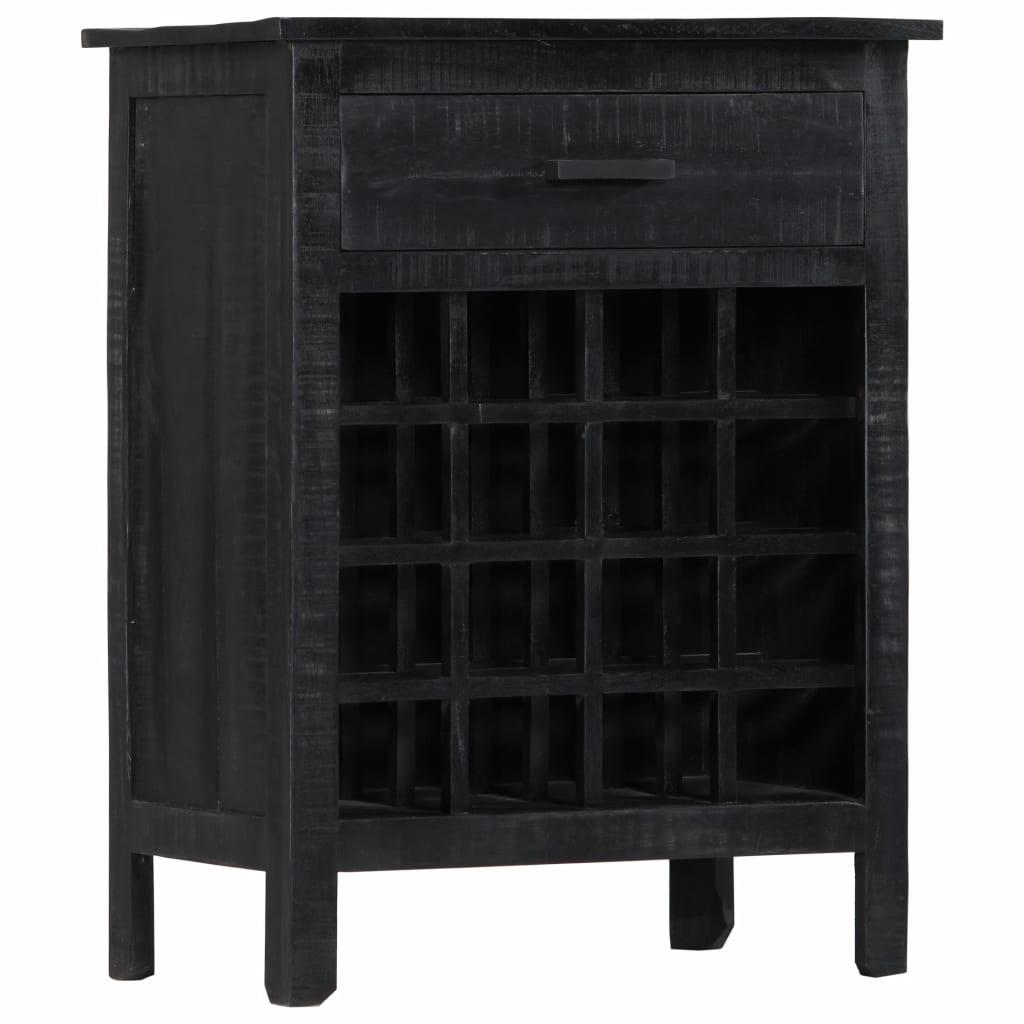 Ovaj jedinstveni vinski stalak rustičnog izgleda bit će bezvremenski dodatak vašem domu. Može se upotrebljavati za pohranu i izlaganje vaše zbirke vina te će privlačiti poglede u vašem domu. Ovaj stalak napravljen je od masivnog drva manga
