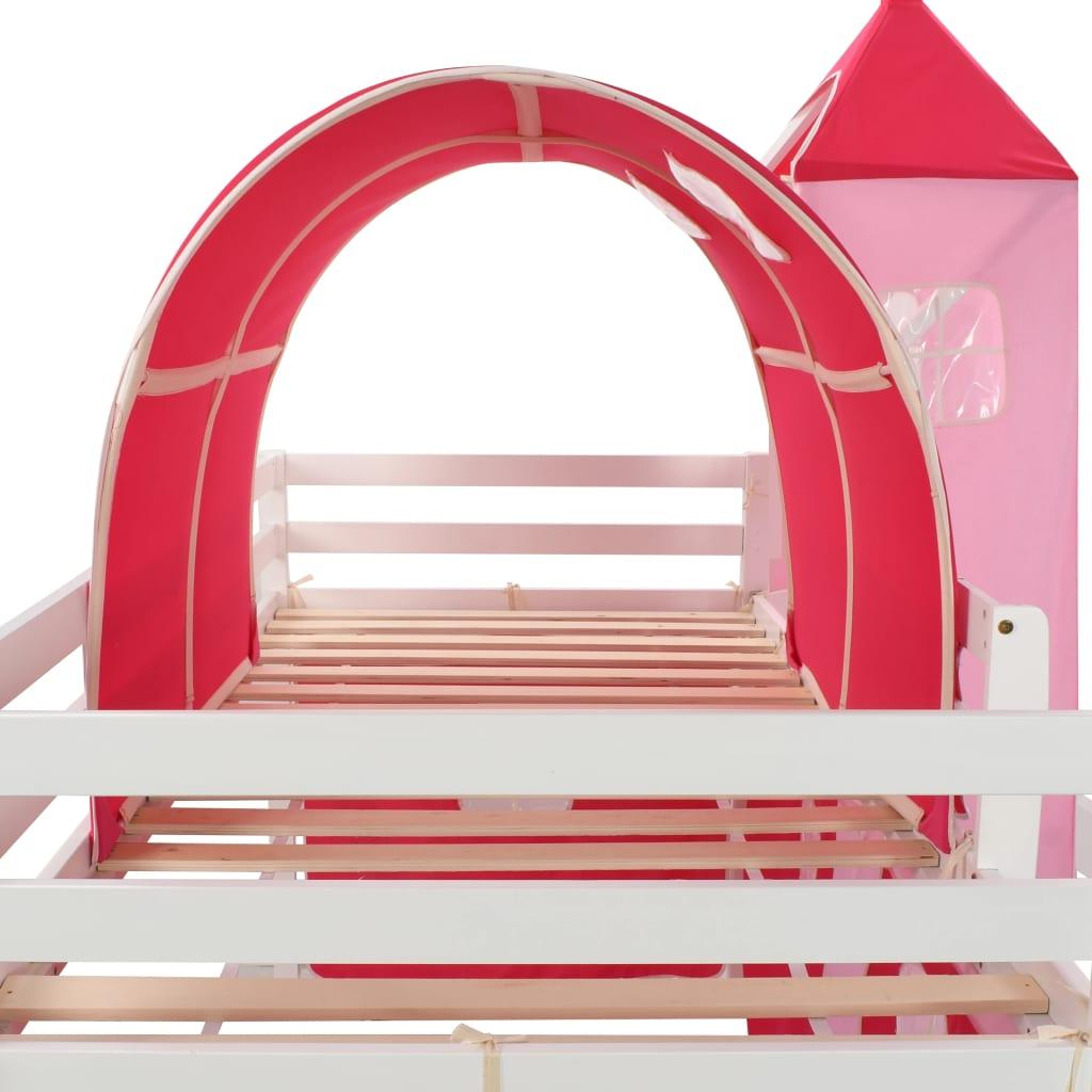 bočnim navlakama i nadstrešnicom. Zaštitna ograda na oba ruba kreveta zadržat će vašu malu princezu u krevetiću. Prostor ispod kreveta pretvara se u princezinu garderobu s uključenim bočnim zidovima s prozorima. Uz to