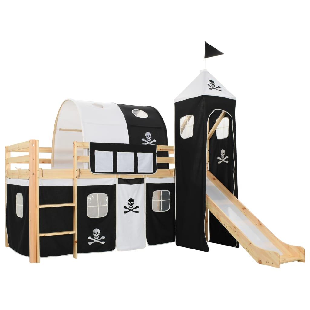 Ovaj dječji krevet na kat s temom pirata uistinu će privlačiti poglede u spavaćoj sobi vašeg djeteta. Krevet ima čvrstu konstrukciju i isporučuje se s podnicama