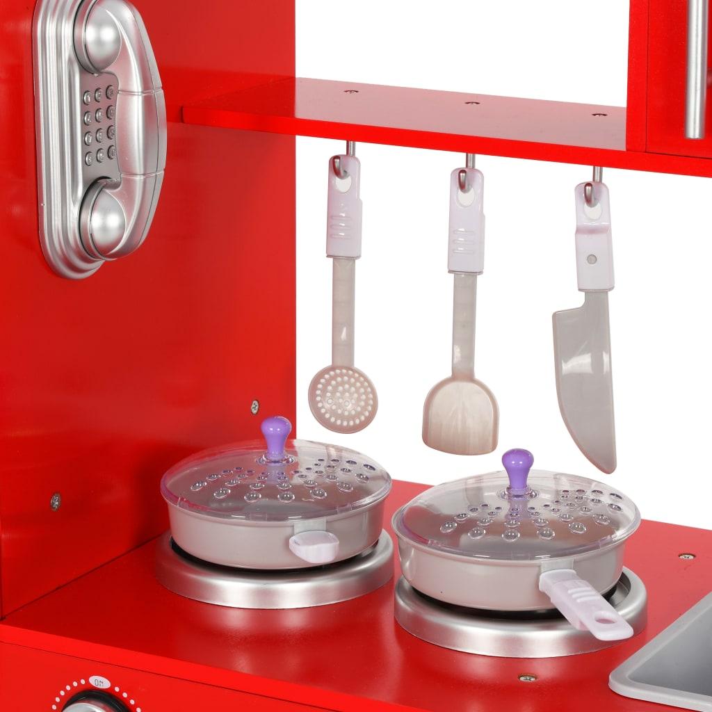 lako se čisti. Gumb slavine može se okretati. Na strani hladnjaka nalazi se bežični telefon s mobilnom slušalicom. Na vratima hladnjaka nalaze se dozator vode i ploča. Ploča omogućuje vašim mališanima pisanje i slikanje. Ispod ploče nalazi se tanjur za postavljanje ili spremanje krede ili olovke. Tijekom igre