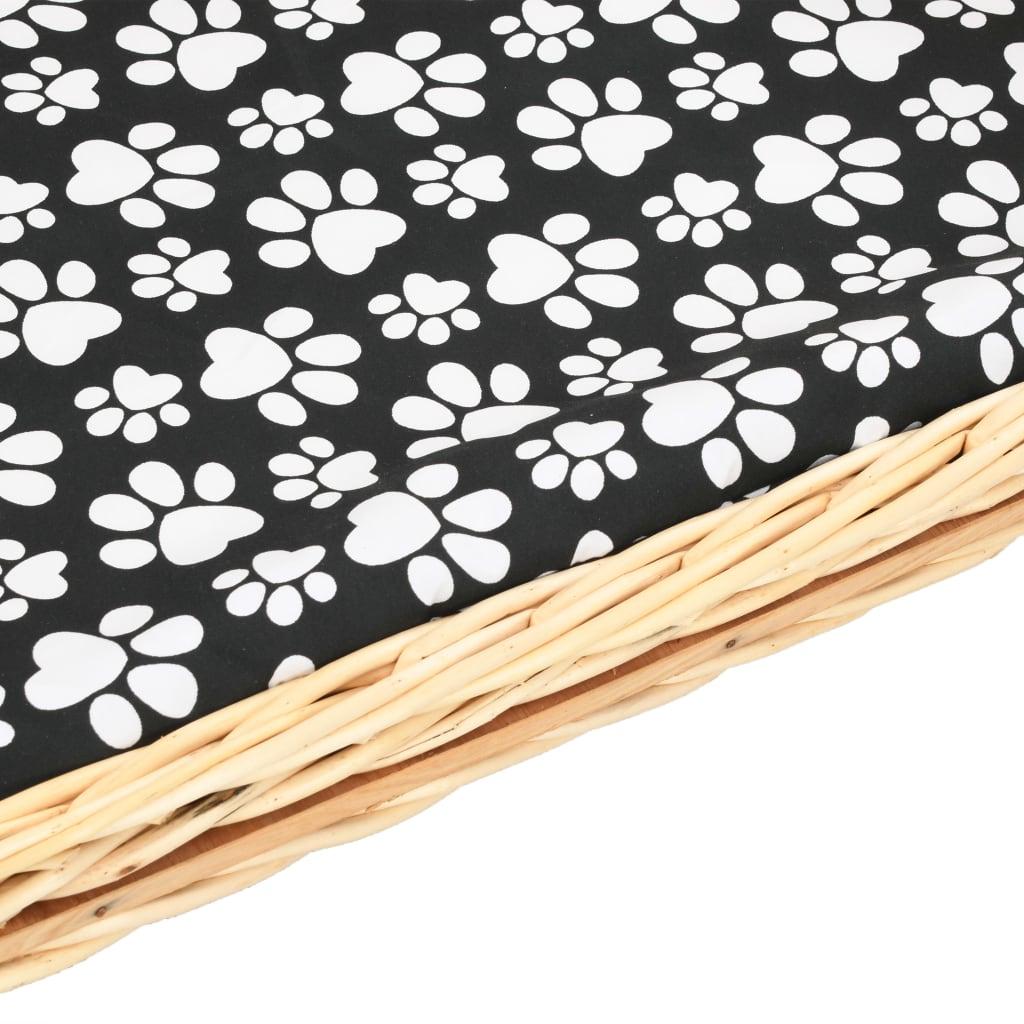 naš namještaj za pse dizajniran je s odvojivim jastukom na kojem vaš pas i drugi mali kućni ljubimci mogu ležati. Ova košara za pse od prirodne vrbe lako se sastavlja i održava.