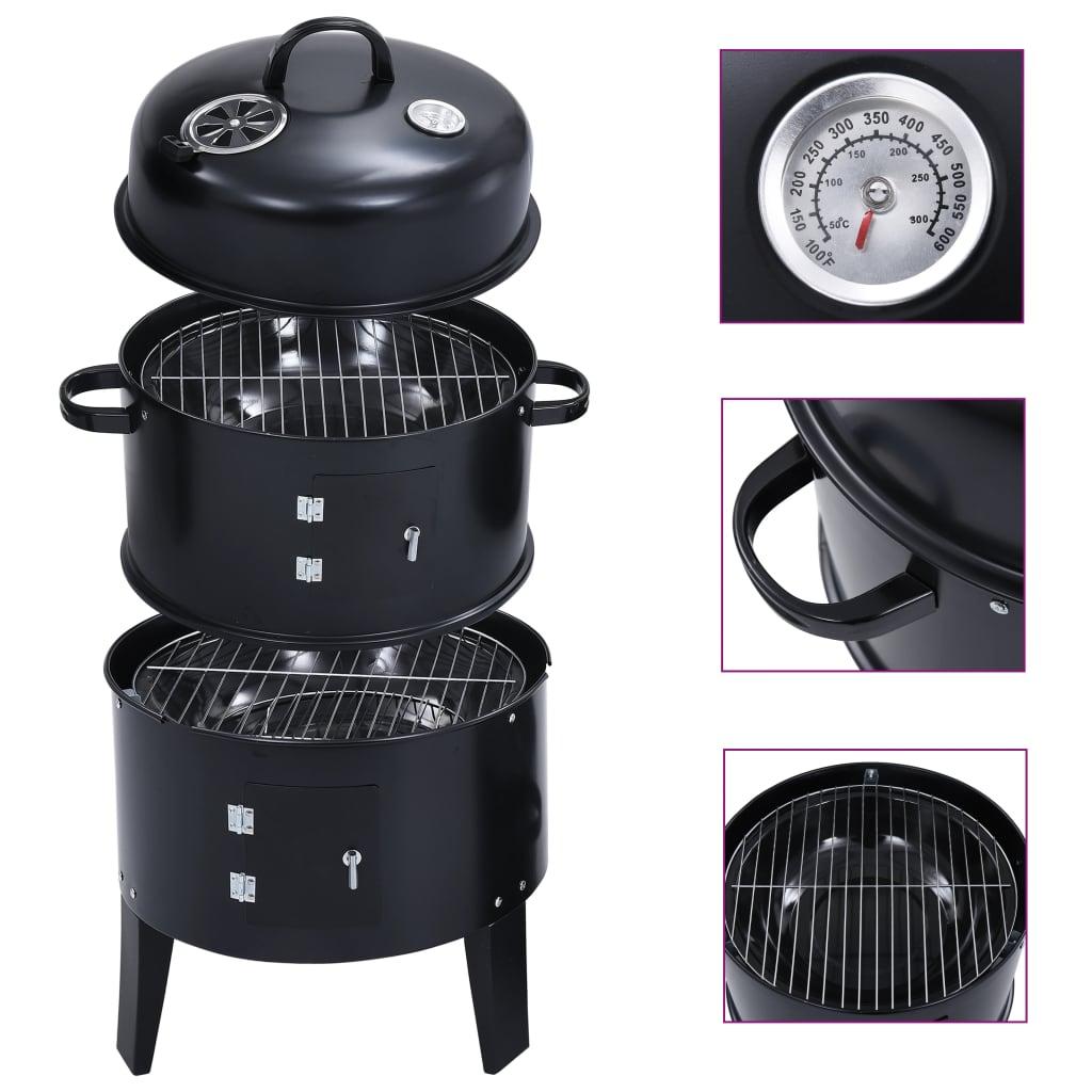 Uz naš 3-u-1 roštilj s pušnicom na drveni ugljen možete peći