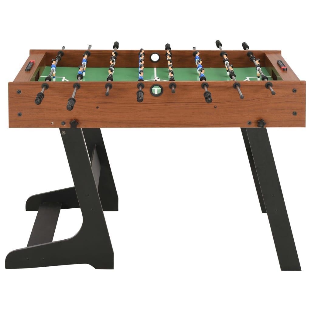 kao i druge prostore za zabavu. Ovaj stolni nogomet prikladan je za natjecanje jedan na jedan ili grupnu igru. Stol je izrađen od čvrstog MDF-a i kromiranih čeličnih šipki kako bi mogao raditi još dugo godina. Dimenzije otisnutog igrališta u skladu su sa službenim standardom turnira